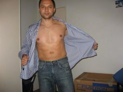 German hunk posing and showing off his dick