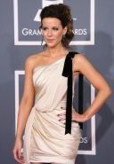 Kate Beckinsale leggy wearing mini dress at 54th Annual Grammy Awards