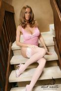 15 pics of Anita Dark sexier then ever in pink stockings & lingerie!