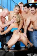 Gangbang with perverted cumswallowing milf blonde Sarah Vandella