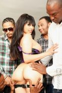 Kinky asian Mika Tan gets gangbanged by black cocks