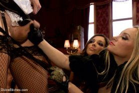 Femdom with bisexual humiliation, extreme pegging and whipping!!