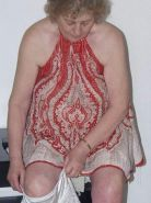 Old fart woman shows her big tits and naked ass