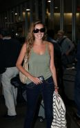 Nadine Coyle leggy in tight jeans  tank top arriving at LAX Airport