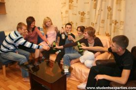 Students drink and furiously pair off