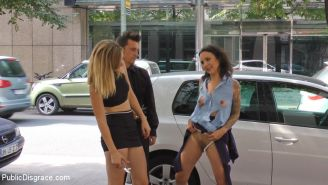 Coco Chanal gets publicly fucked, stripped naked and humiliated on the streets o