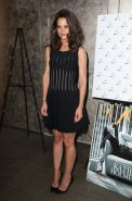 Katie Holmes see through to bra at DuJour Mag Fall Cover Party in New York City