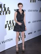 Emma Watson leggy wearing a mini dress at 'The Bling Ring' premiere in LA