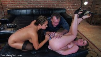 Trina and Harmony Rose Gets Butt Banging Bitches for Randy