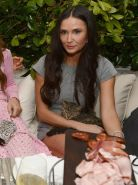 Demi Moore leggy at Chanel Beachside BBQ celebrating Art.sy in Miami Beach