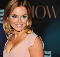 Geri Halliwell showing huge cleavage at the F1 Ormond Street Charity Event in UK