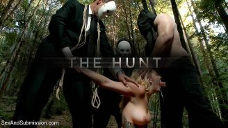 Iris Rose and Chanel Preston are hunted through the woods and bo