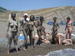 Nudist mud club