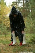 Rubber boots rainwear fuckmachine outdoors