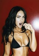 Megan Fox busty and lot of cleavage in bikini pictures