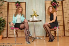Mature ladies in pantyhose