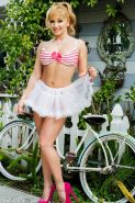 Lea Lexis strips naked before riding her bicycle