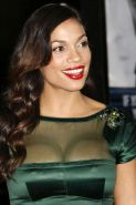 Rosario Dawson posing and showing huge boobs and sexy body