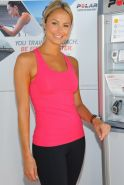 Stacy Keibler workout session at Muscle Milk Fitness Retreat in LA