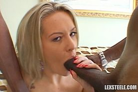 Interracial 2-on-1 Sex Photo Set With Lexington Steele, Jon Jon And Megan Monroe