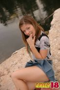 Young teen emily all alone outdoor