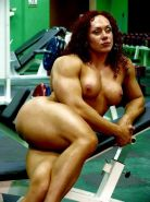 hot female bodybuilders posing and in action