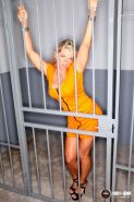 BUSTY BLONDE WEBSTAR OF THE YEAR VICKY VETTE IS A SEXY PRISONER