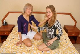 Hairy Lesbian Amateurs Using Their Tongues And A Dildo