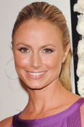 Stacy Keibler amazingly busty in short purple dress at The Red Carpet Cocktail P