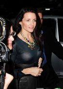 Kristin Davis in see thru to bra top paparazzi shoots and topless