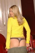 Barbara curvy and busty amateur blonde strips down to her high heels