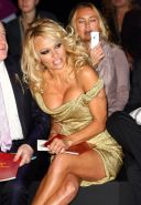 Celebrity Pamela Anderson nice boobs and thick cameltoe