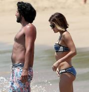 Lucy Hale showing off her bikini body on a Hawaiian beach