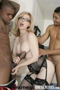 Nina Hartley getting fucked and facialed by two massive black cocks