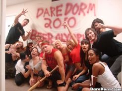 Watch these hot horny babes suk and fuck in this hot college dorm room 3some hot