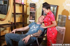 Kayme Kai gives a massage with a happy ending