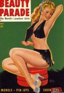 Several erotic vintage magazine cover babes getting naked