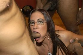 Gorgeous UK Pornstar Emma Butt takes on a bunch of BBCs for the