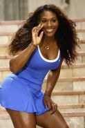 Serena Williams upskirt at the Nike photocall for the Australian Open