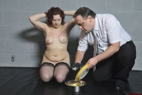 Brutal humiliation and bizarre messy domination of uk redhead slaveslut Isabel D