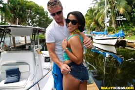 Penny Nichols gets her tight ass fucked on a boat