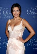 Eva Longoria showing huge cleavage at the 2014 Princess Grace Awards Gala in Bev