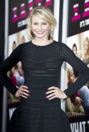 Cameron Diaz exposing her tits in see thru dress and legs in mini skirt