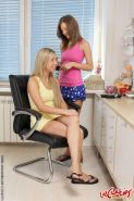 Tiny Teen lesbos are toying their asses