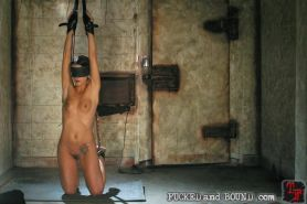 Helpless babe Sara Faye gets tied up and BDSM drilled by Kurt Lockwood