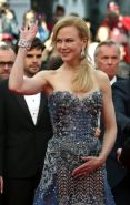 Nicole Kidman busty wearing a strapless dress at the 67th Annual Cannes Film Fes