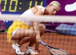Maria Sharapova downblouse on court and upskirt paparazzi pictures
