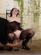 Emmas amateur pain and cruel pussy heavy weight pussy punishment in the dungeon
