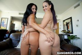 Big butt brunette babes hardcore group sex and cumshot