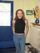 French mature housewife posing at home